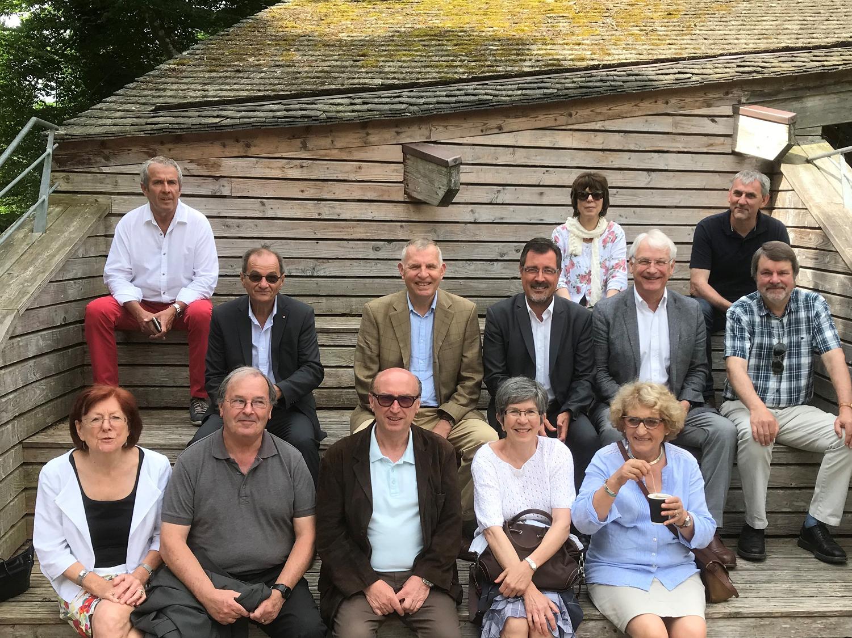 visite du centre écotourisme de Franchard par les élus du pays de fontainebleau