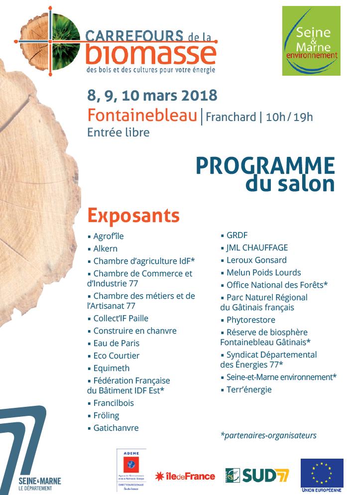 Carrefours de la biomasse pays de fontainebleau - Chambre de commerce et d industrie de seine et marne ...