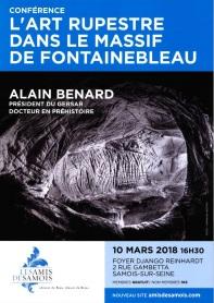 conférence l'art rupestre dans le massif de Fontainebleau à samois sur seine