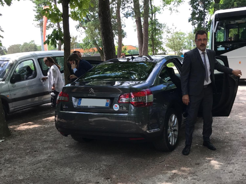 Pascal Gouhoury, Jean-Louis Thiériot en visite au pays de Fontainebleau