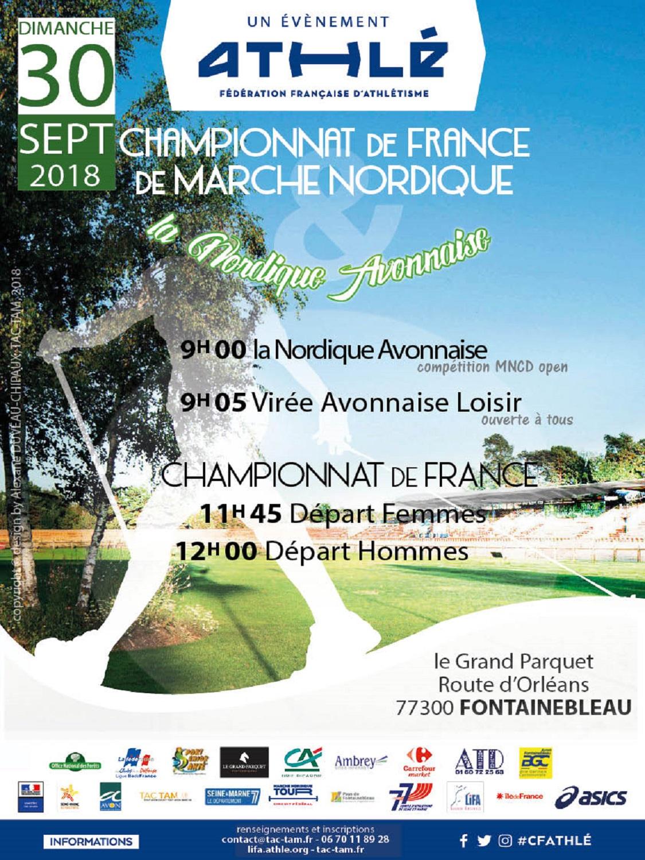 Championnat de France de marche Nordique au Grand Parquet