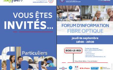 invitation forum fibre optique bois le roi septembre 2018