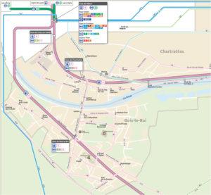 carte réseau bus bois le roi chartrettes