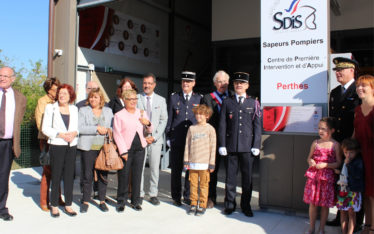 inauguration caserne pompiers perthes