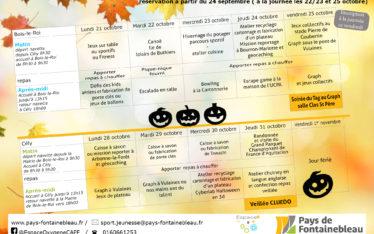 article planning automne journées oxygene